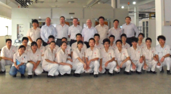 Precision Components Australia management team visit China JV in 2011