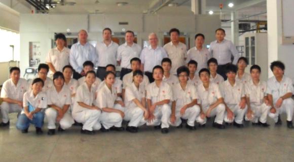 Precision Components Australia management team visit China JV in 2011
