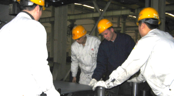 Precision Components staff participating in tooling program