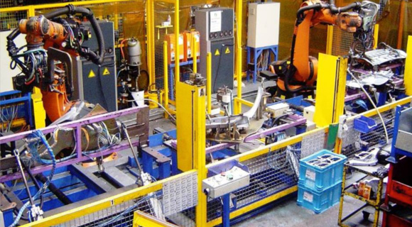 Robotic welding cell C and D