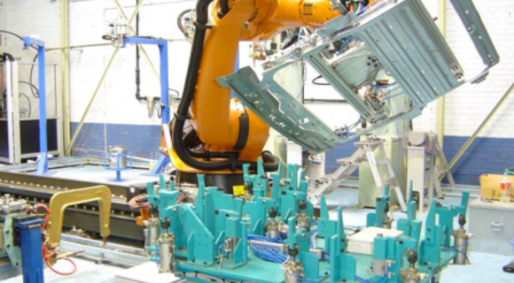 Robotic welding for Sunroof Assembly
